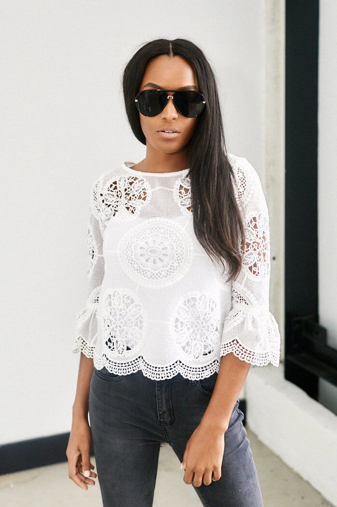 SALE - Ares Lace Top