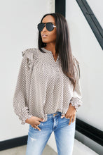 Load image into Gallery viewer, SALE - Burke Ruffle Detail Print Blouse