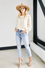 Load image into Gallery viewer, Reign Pom Pom Long Sleeve Top