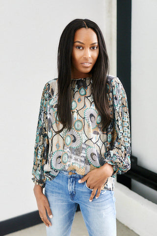 Lawson Tribal Print Blouse