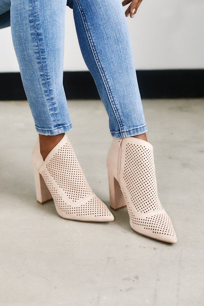 fab'rik - Claudia Perforated Bootie ProductImage-13649180590138