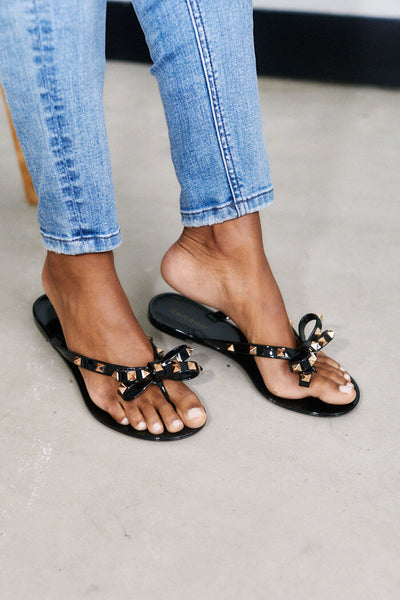 fab'rik - PreOrder Adrie Studded Bow Sandal image thumbnail