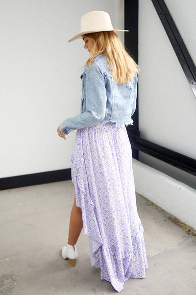 fab'rik - Skylar High Low Floral Print Skirt image thumbnail