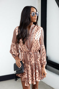 Margaret Polka Dot Long Sleeve Dress