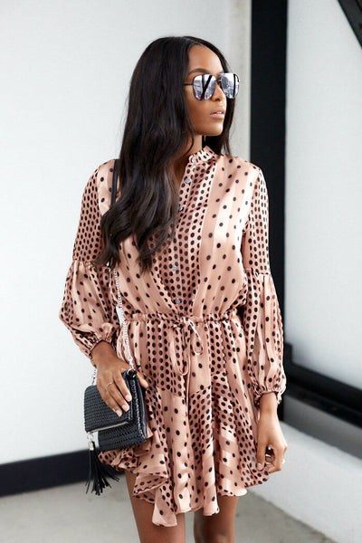 fab'rik - Margaret Polka Dot Long Sleeve Dress image thumbnail