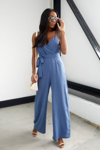 Elizabeth Solid Sleeveless Jumpsuit