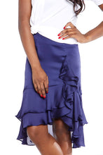 Load image into Gallery viewer, Chelsea Ruffle Frills Satin Skirt