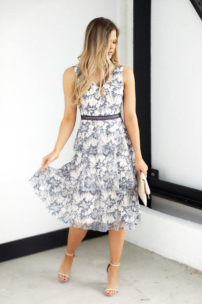 fab'rik - Rennes Tiered Lace Midi image thumbnail