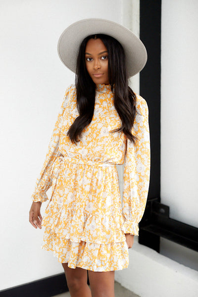 fab'rik - Bianca Long Sleeve Floral Print Dress image thumbnail