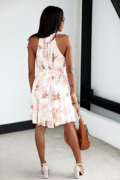 fab'rik - Corinne Sleeveless Palm Print Dress image thumbnail