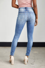 Load image into Gallery viewer, Sierra Distressed Mid Rise Skinny Jeans