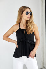 Load image into Gallery viewer, SALE - Baya Tie Front Ruffle Tank
