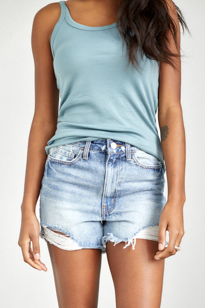 SALE - Cabana Cut Off Denim Shorts