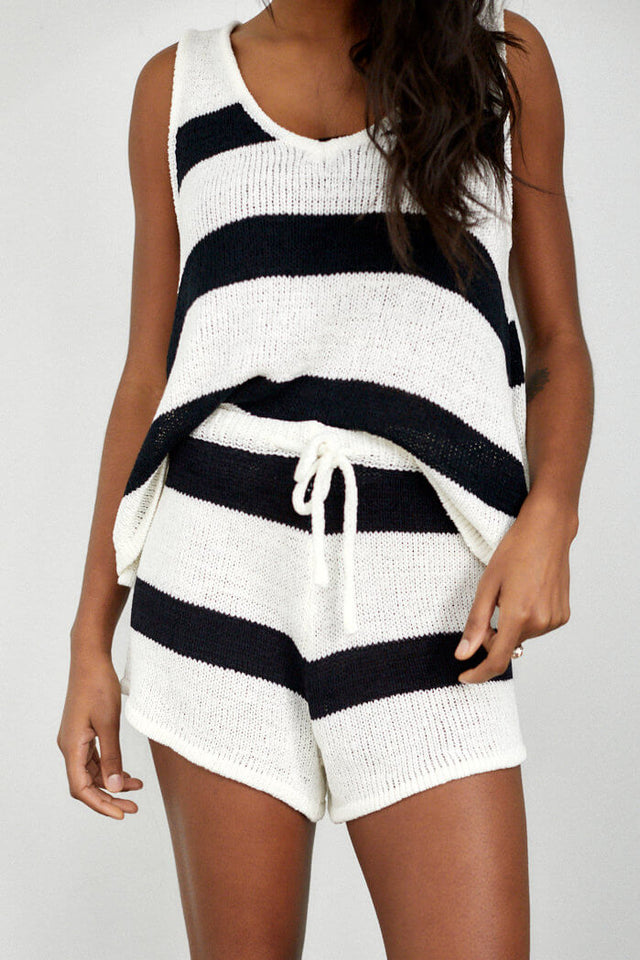Wyatt Knit Stripe Short