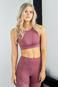 Vitality Mesh Solid Sports Bra