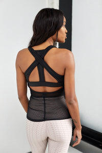 SALE - Center Tank With Mesh Cutout