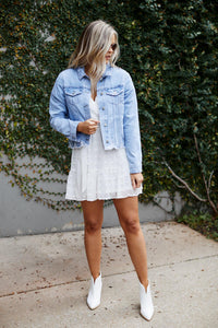 Lincoln Distressed Denim Jacket