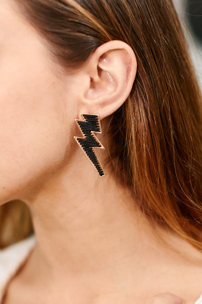 fab'rik - Sara Threaded Lightening Bolt Earrings image thumbnail