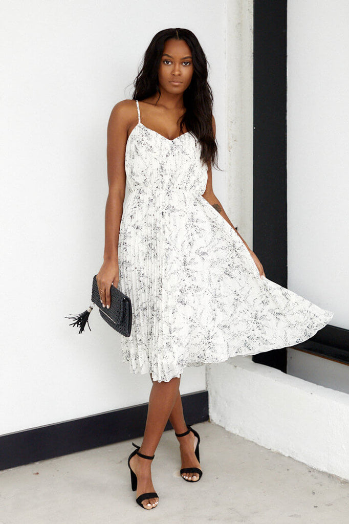 SALE - Princeton Pleated Floral Midi Dress