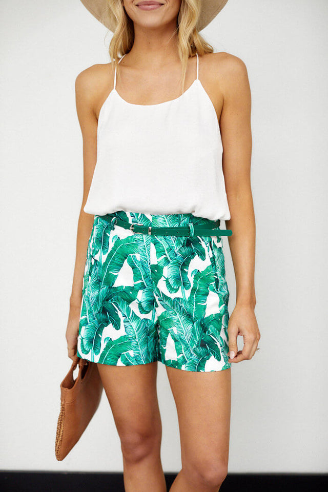 Monica Palm Print Short