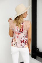 Load image into Gallery viewer, Carson Sleeveless Lace Detail Foral Blouse