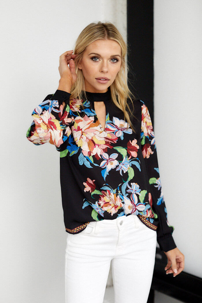 fab'rik - Florence Key Hole Long Sleeve Top ProductImage-13691785773114