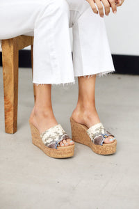 Rowen Snake Cork Wedge