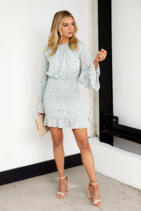 Lila Long Sleeve Smocked Dress