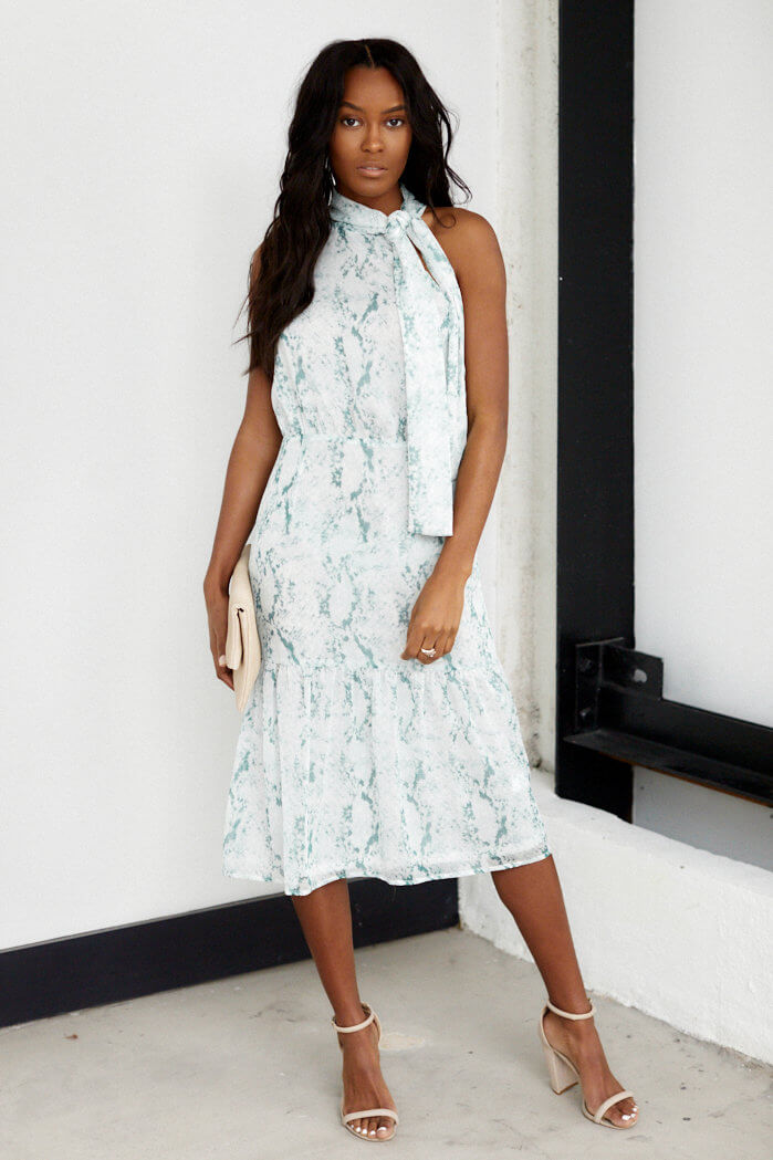 fab'rik - Wrigley High Neck Snake Print Midi Dress ProductImage-13690582859834