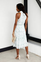 Load image into Gallery viewer, SALE - Wrigley High Neck Snake Print Midi Dress