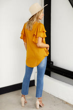 Load image into Gallery viewer, Kade Ruffle Sleeve Blouse