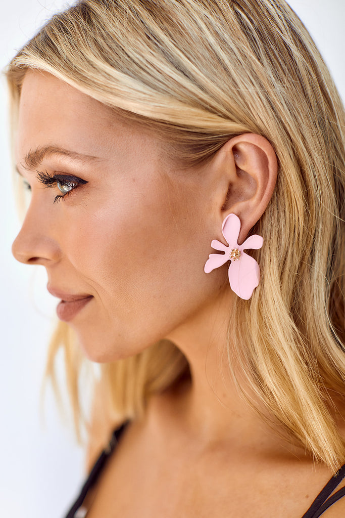 Dhalia Flower Earrings