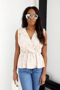 fab'rik - Cecilia Sleeveless Printed Peplum Blouse ProductImage-13703500398650