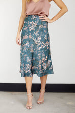 Load image into Gallery viewer, Fawn Floral Midi Slip Skirt