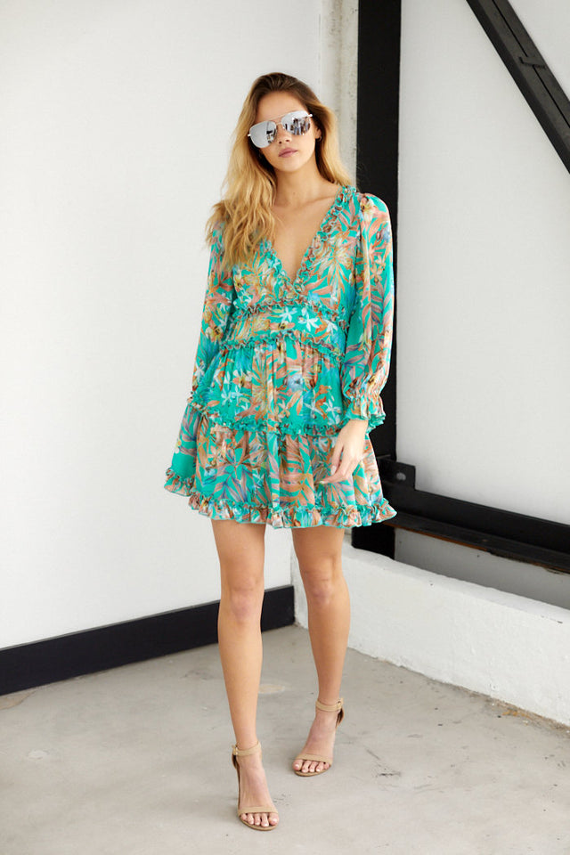 Solena Ruffle Foral Dress