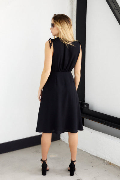 fab'rik - Winston V Neck Button Down Midi Dress image thumbnail