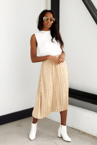 Brielle Print Pleated Midi Skirt