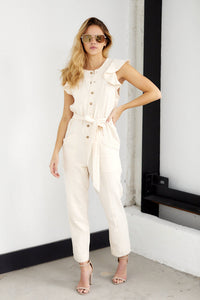 Skyler Button Up Jumpsuit