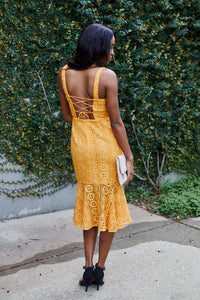 SALE - Catalina Sleeveless Lace Midi Dress