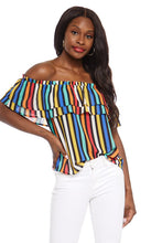 Load image into Gallery viewer, Tinsley Stripe Off the Shoulder Top