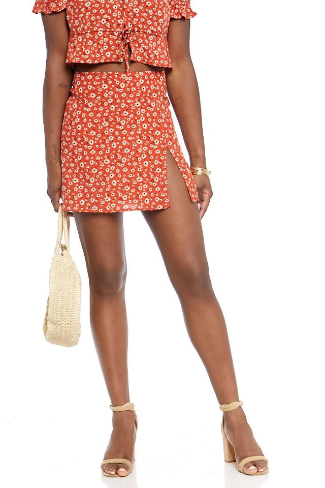 Ashlie Floral Mini Skirt