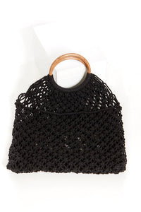 Jemma Crochet Knit Bag