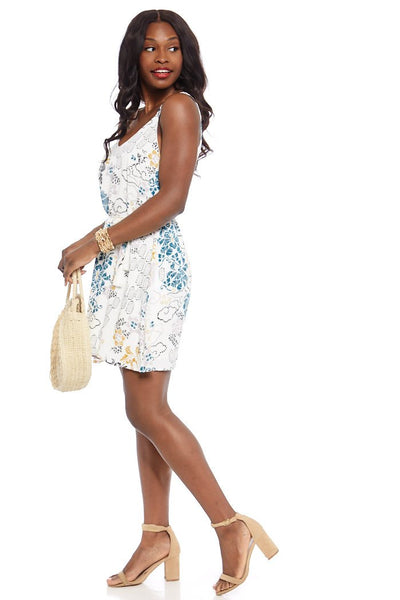 fab'rik - Zinnia Printed Mini Dress image thumbnail