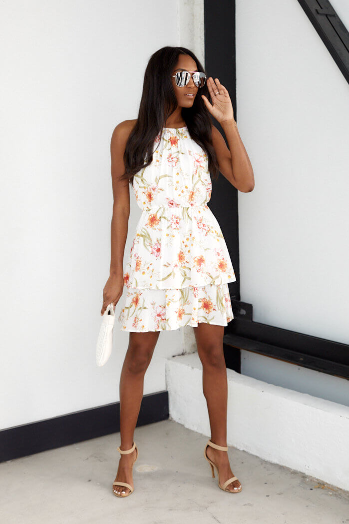 fab'rik - Kai Sleeveless Floral Ruffle Dress ProductImage-13713193304122