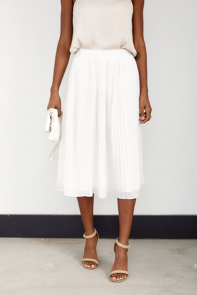 PreOrder Penn Pleated Flare Midi Skirt