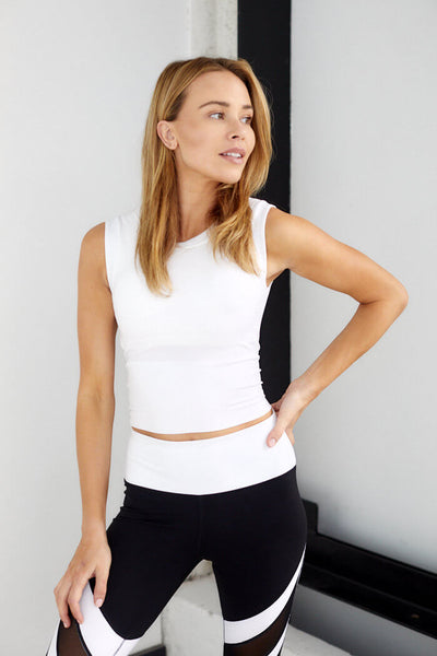 fab'rik - Bloom High Neck Sleeveless Crop Top image thumbnail