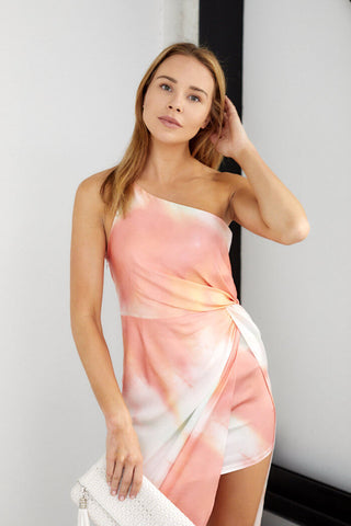 PreOrder Blakely Tie Dye One Shoulder Dress