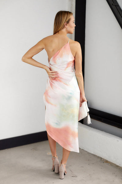 fab'rik - PreOrder Blakely Tie Dye One Shoulder Dress image thumbnail