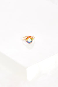 fab'rik - Rainbow Crystal Circle Ring ProductImage-7744070123578