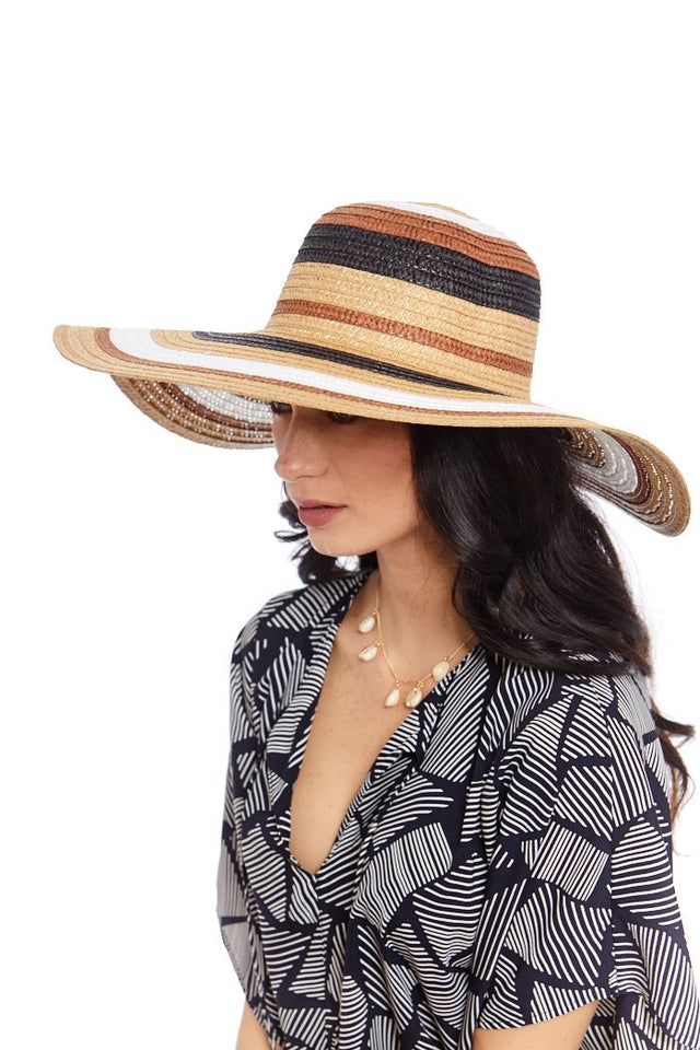 Multi Color Straw Sun Hat